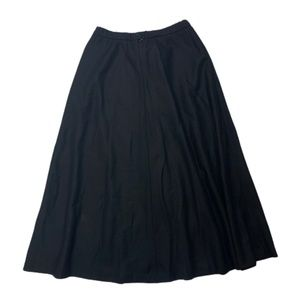Pendleton 100% Virgin Wool Black A-Line Skirt 10
